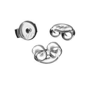 Silber ohrstecker ohrmutter*Sterlingsilber 925*BAR 1 5,3 mm