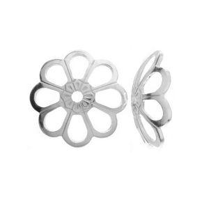 Flower perlenkappen silber - WKA  6,0