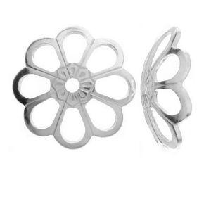 Flower perlenkappen silber - WKA  8,0