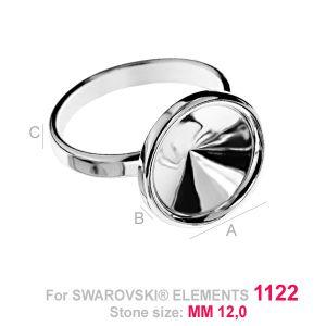 Ring mit glas fassung für Rivoli - OKSV 1122 12MM S-RING ver.2