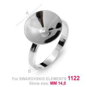 Ring mit glas fassung für Rivoli - OKSV 1122 14MM S-RING