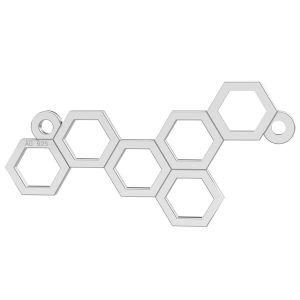 Bienenwabe anhänger silber - LK-0348