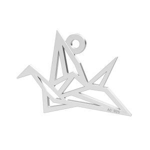Origami Vogel anhänger, LK-0364 - 0,50