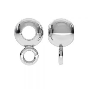 CON 1 P2L 6,0 F:3,2 - Perle Zwischenperle Kugel, silber 925