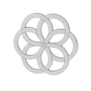 Blume anhänger - LK-0021 - 10MM