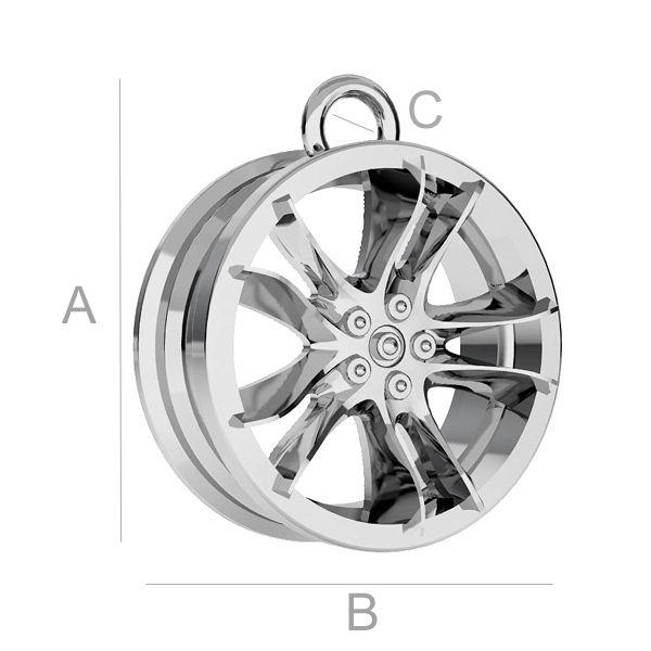 Alloy auto-Rad anhänger - ODL-00169