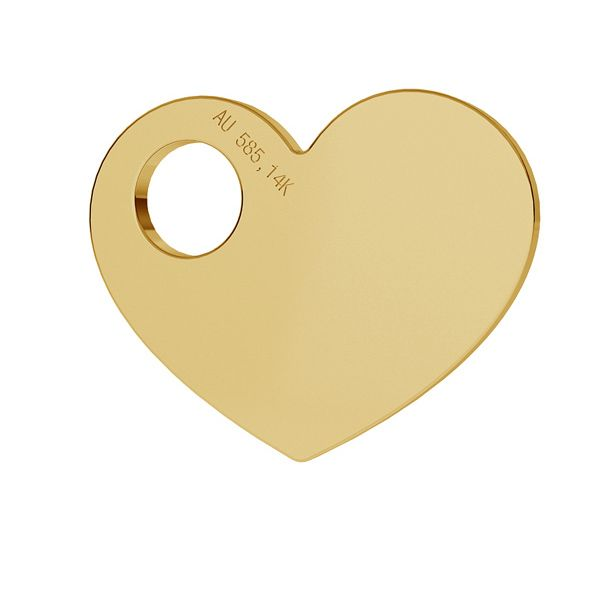 Herz 14K gold anhänger LKZ-00014 - 0,30 mm