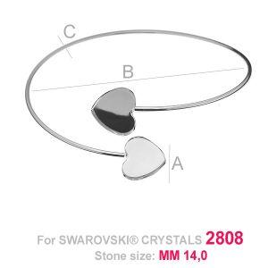 Runde armband base herz HKSV 2808 2x14 MM SBR