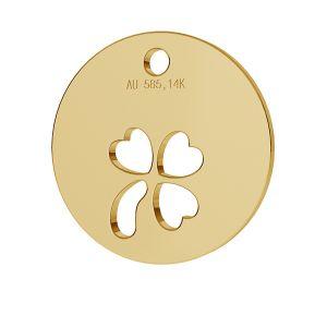 Klee anhänger 14K gold LKZ-00024 - 0,30 mm