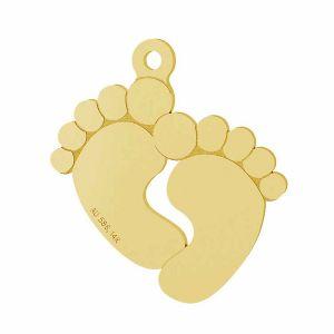 Babyfüße anhänger 14K gold LKZ-00482 - 0,30 mm