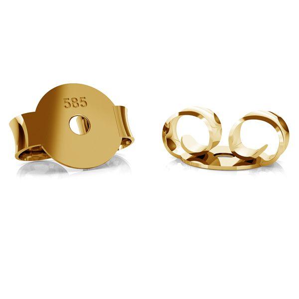 Gold ohrstecker ohrmutter BARZ 1 - AU 585,14K