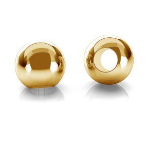 Gold rund perlen kugel 14K P2LZ 2,2 F:1,0