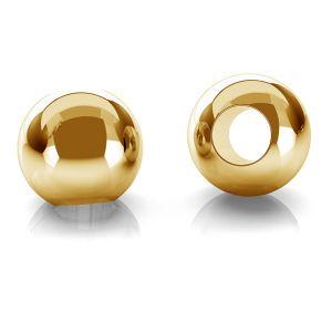 Gold rund perlen kugel 14K P2LZ 2,5 F:1,2