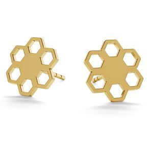 Blume ohrringe 14K gold LKZ-00668 KLS - 0,30 mm