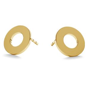 Runden ohrringe 14K gold LKZ-00671 KLS - 0,30 mm