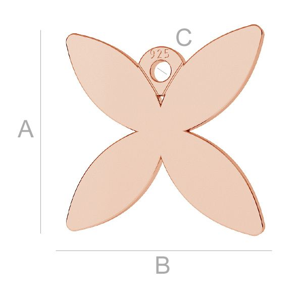 Schmetterling anhänger, LK-0888 - 0,50