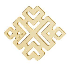 Greek tag anhänger 14K gold LKZ-00188 - 0,30 mm