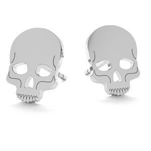 Schädel halloween ohrringe, LK-1023- 0,50