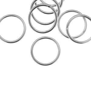 KCZ 1,5x12,5 mm - Ösen/Biegeringe (gelötet), sterling silber 925