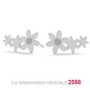 Blume ohrstecker (2058 SS 7), LK-1179 KLS - 0,50