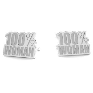 100% woman ohrringe LK-1189- 0,50 - KLS