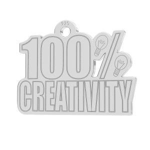 100% Creativity anhänger, LK-1184 - 0,50