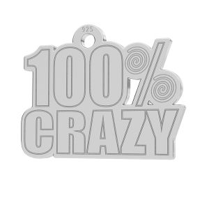 100% Crazy anhänger, LK-1186 - 0,50
