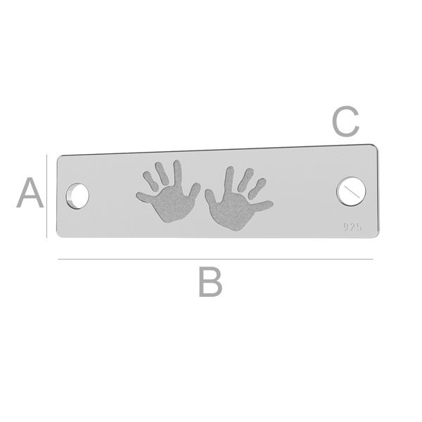 Kinderhände anhänger, LK-1289 - 0,50