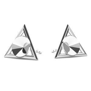 Dreieck ohrringe Swarovski Rivoli 6mm, silber 925, ODL-00315 KLS (1122 SS 29)
