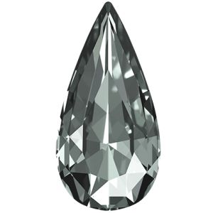 Teardrop Fancy Stone, Swarovski Crystals, 4322 MM 10,0X 5,0 BLACK DIAMOND F
