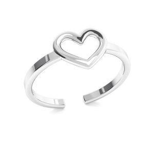 Herz ring, silber 925, ODL-00317