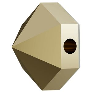 Hexagon Spike Bead, Swarovski Crystals, 5060 MM 5,5 CRYSTAL METALLIC LIGHT GOLD