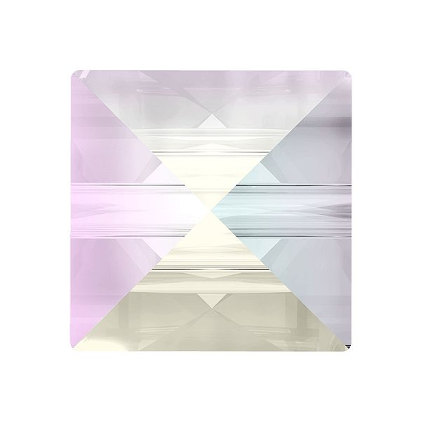 Square Spike Bead, Swarovski Crystals, 5061 MM 5,5 CRYSTAL AB