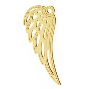 Engelsflügel anhänger, 14K gold, LKZ-01305 - 0,30