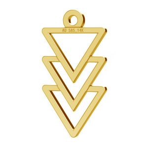 Dreieck anhänger, 14K gold, LKZ-00434 - 0,30