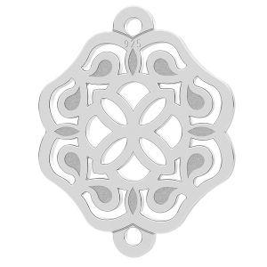 Rosette anhänger, silber 925, LK-1259 - 0,50