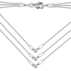 Basis für halsketten, silber 925, S-CHAIN 15 (A 030)