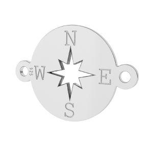 Kompass anhanger, sterling silber 925, LK-1318 - 0,50