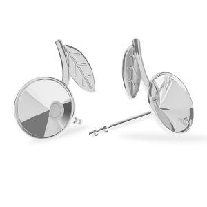 Laub ohrstecker, silber 925, Cherries earring, sterling silver 925, ODL-00355 KLS (1122 SS 29) L+R
