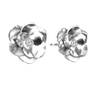 Rose ohrringe ODL-00041 KLS - CRYSTAL