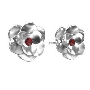 Rose ohrringe ODL-00041 KLS - SIAM