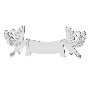Hochzeit Taube anhänger, sterling silber 925, LK-1366 - 0,50