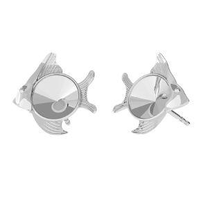 Fisch ohrstecker Swarovski base, silber 925, ODL-00361 KLS (1122 SS 29)