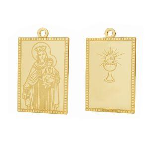 Unser Dame Medaillon anhänger, 14K gold, LKZ-01373 - 0,30