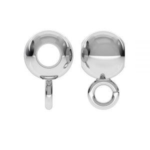 P2L  4,0 F:1,8 (CON 1) - Perle Zwischenperle Kugel, silber 925