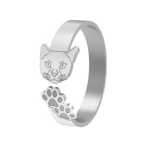 Katze ring, silber 925, LK-1402 - 0,50