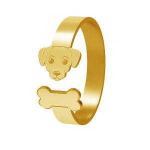 Hund ring, silber 925, LK-1403 - 0,50