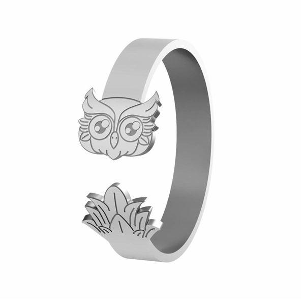 Eule ring, silber 925, LK-1406 - 0,50