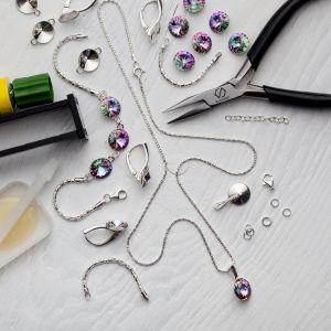 DIY mach es selber armband, silber 925, Swarovski, DIY with SILVEXCRAFT  NO.02001