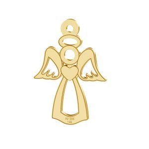 Engel anhänger, 14K gold, LKZ-00332 - 0,30
